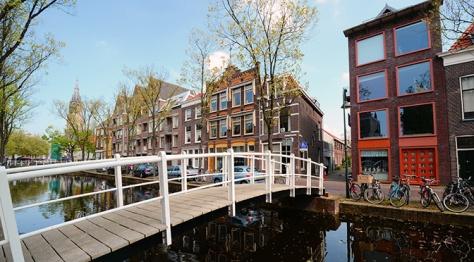 The romantic city of Delft