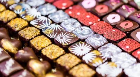 Delicious chocolates in Belgium