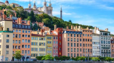 Lyon, a view of the Basilique Notre Dame de Fourviere