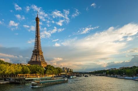 Eiffel Tower on River Seine