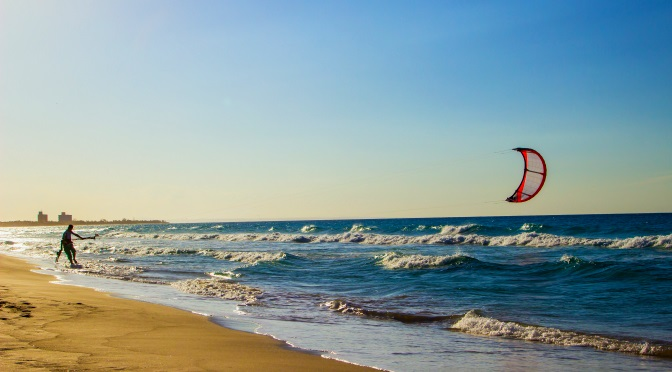 Kite surfing beach