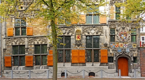 Medieval house Delft Netherlands