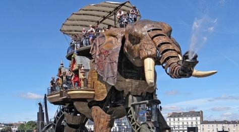 The Grand Elephant at Les Machines de l'Ile in Nantes