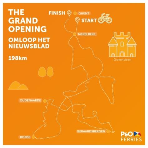 Omloop Het Nieuwsblad 2017 route map