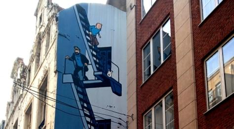 Herge mural in Brussels