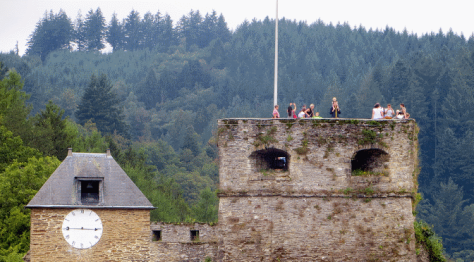 Taking in the view from Bouillon Castle, Wallonia