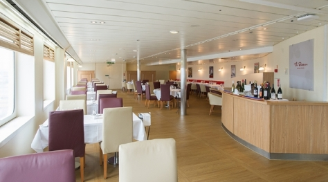 The Brasserie on P&O Ferries' Pride of York