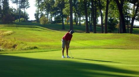 Playing golf in Wallonia
