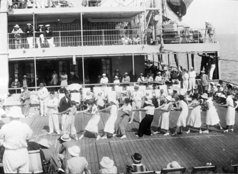 Tug of war on a P&O ferry