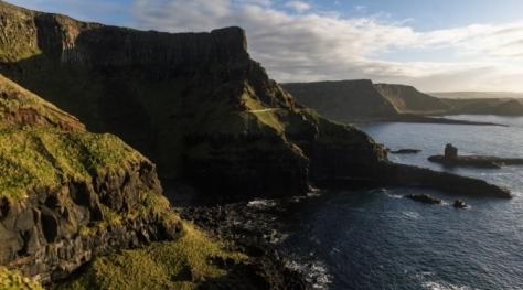 Cliffs by the Irish Sea in Northern Ireland
