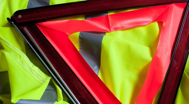 Reflective jacket and warning triangle