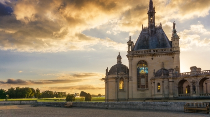 Domaine de Chantilly, a beautiful castle and chateau in Chantilly