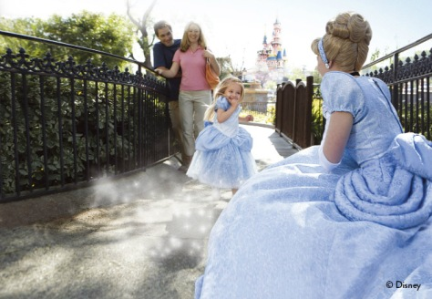 Princesses at disneyland